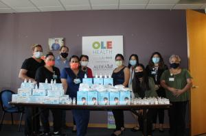 UNITD and CHMRC Donate Masks to Ole Health