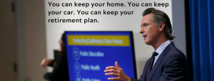 California Governor Gavin Newsom helps people keep their homes during COVID-19