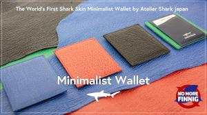 No finning Shark Leather Wallet for Minimalist