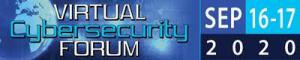 Cybersecurity logo with blue color background, and digital looking theme with globe and the dates