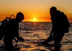 Preparing for a night dive