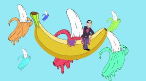 """Sam Pocker's Magic Banana"" music video still"