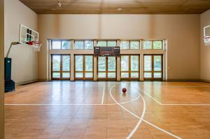Interior basketball court at Arbor Hill.