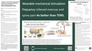 Image of poster showing Oscillice® vs. TENS Comparative Study