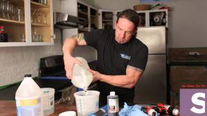 Tim Phelps on HGTV Show Reworking a Countertop the iCoat way.