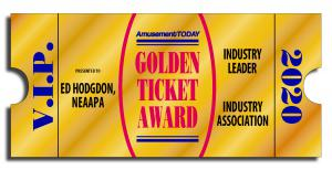 Golden Ticket Award Industry Leader Ed Hodgdon NEAAPA