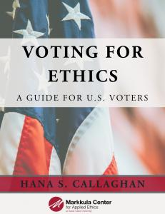 Voting for Ethics: New how-to guide for voters helps evaluate ethics of candidates running for office