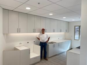 Jim Russell, owner of James Russell Co. near San Francisco, only uses Global Cabinet Supply for all his cabinet components. GCS components are cut precisely and slide-to-lock together perfectly without any hardware showing.