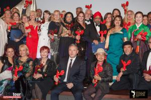 Artists from different countries during the 2019 ATIM Top 60 Masters Award Ceremony.