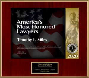 Ntionally Recognized Shareholder Rights Attorney Timothy L. Miles