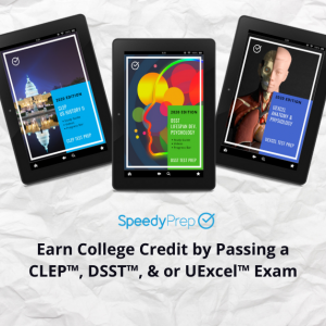 Save 50% on CLEP, DSST, or UExcel Test Prep