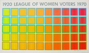 Screenprint by Richard Anuszkiewicz for 50th Anniversary of the League of Women Voters