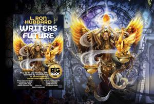 L. Ron Hubbard Presents Writers of the Future Volume 36 with NYC Big Book Award in Fantasy category placed on the book cover