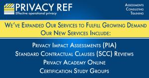 List of expanded services, privacy impact assessments, scc reviews, certification groups