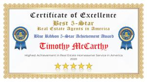 Timothy McCarthy Certificate of Excellence Hollywood FL