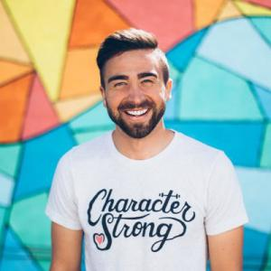 Houston Kraft smiling because he is a kindness advocate @houstonkraft
