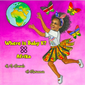cover of the book Where is Baby K? Afrika – a beautiful story which highlights meaningful teaching moments for cultural awareness