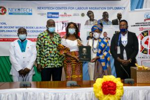 MINISTER FOR GENDER, CHILDREN AND SOCIAL PROTECTION RECEIVES AWARD ON BEHALF OF PRESIDENT OF GHANA