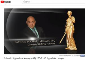 Video Appeals Attorney Patrick Megaro YouTube Video