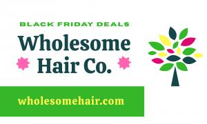 Wholesome Hair Co. Black Friday Deals 2020 for Black Owned Natural Hair Care Products