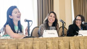 3 women speakers sitting at a table at the 2019 Conference on Women Leaders in Life Sciences Law. The 2020 event will take place November 17-18, 2020 in a virtual format.