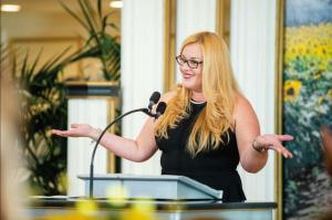 "Damaris (Dammy) Sanchez, founder of I AM the Group Foundation, received the Tampa Bay Charity Coalition ""Difference Maker Award"" in October 2020."