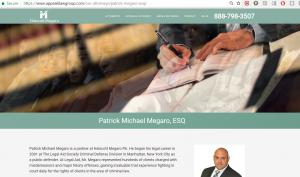 Website AppealsLawGroup, Patrick Michael Megaro, Criminal Defense Lawyer