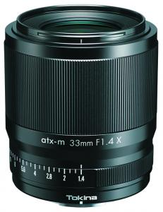 The new Tokina atx-m 33mm f/1.4 lens for Fuji X-mount mirrorless cameras