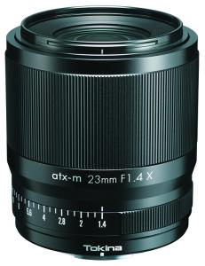 The new Tokina atx-m 23mm f/1.4 lens for Fuji X-mount mirrorless cameras