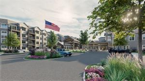 Exterior image of Rivertown Ridge, a retirement community in Wyoming, Mich.