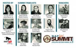These leaders in the plant-based movement will join with ranchers and farmers to talk.