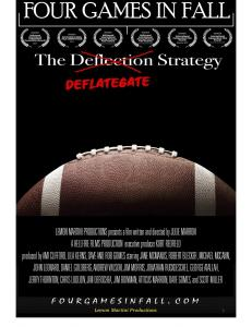 Four Games in Fall The Deflategate Strategy Move Poster containing football