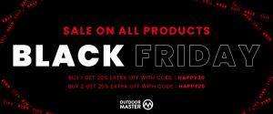 Black friday sale at OutdoorMaster