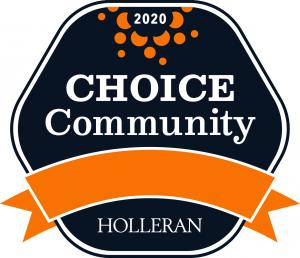 Award logo for the 2020 Holleran Choice Community Award received by Franciscan Communities