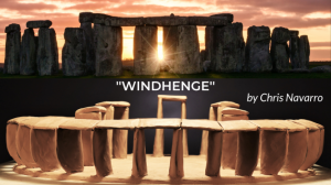 4.	''WINDHENGE'' inspired after the famous Stonehenge.