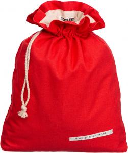 Goodleks Red Linen Bread Bag