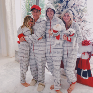 The Pointster matching family holiday Christmas pajamas