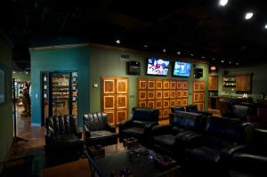 A look inside the cigar lounge at The Smoke Ring in Webster Texas