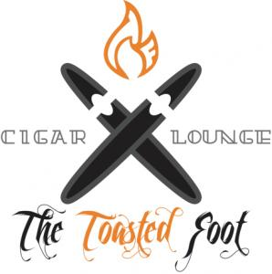 This is the logo for the Toasted Foot Lounge local cigar lounge in Callaway Maryland