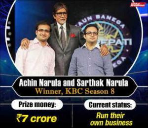 KBC Winner list