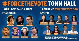 #ForceTheVote Town Hall to be held Wednesday evening online.