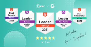Insider's G2 Winter 2021 Report Badges