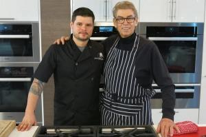 Nigel with Chef Dan Frenette