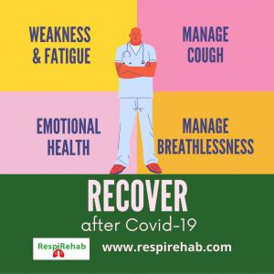 Recover from Covid symptoms like breathlessness, fatigue, cough and weakness with RespiRehab Pulmonary Rehab