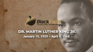 Dr Martin Luther King Video on BlackFacts.com