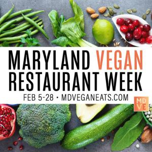 MD Vegan Restaurant Week Poster