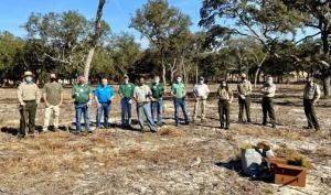 FSPF, Bass Pro and Florida State Park staff at tree planting
