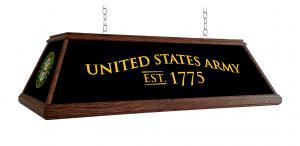 United States Army: Historic Logo - Premium Wood Pool Table Light