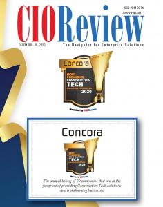 Concora Most Promising Construction Tech Solution Provider of 2020