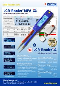 LCR-Reader-MPA Flier with specifications and summary of features